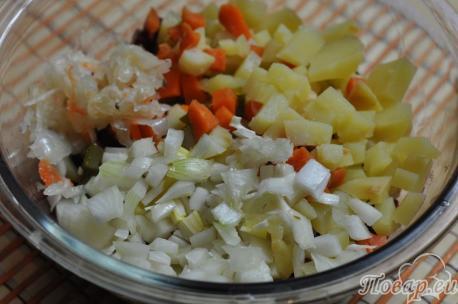Рецепт винегрета классический: картофель, лук, морковь