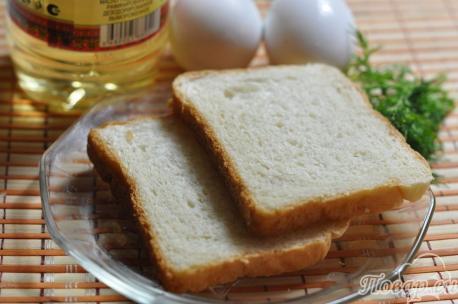 Рецепт яичницы по-французски: продукты