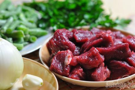 Рецепт зелёного лобио: продукты