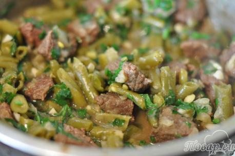 Рецепт зелёного лобио: готовое блюдо
