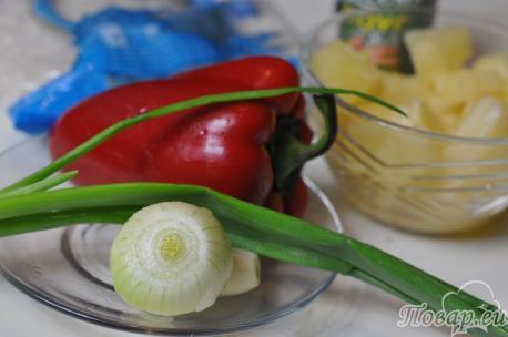 Рис с ананасами: продукты