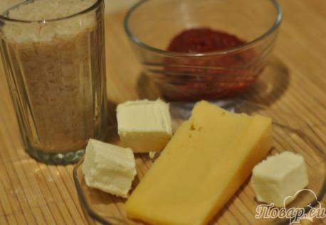 Рис с томатом и сыром: ингредиенты