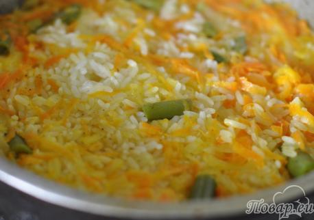 Рисовый гарнир с овощами: готовое блюдо