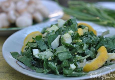 Салат из черемши с огурцом: готовый салат