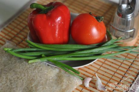 Салат из перца и помидоров: продукты