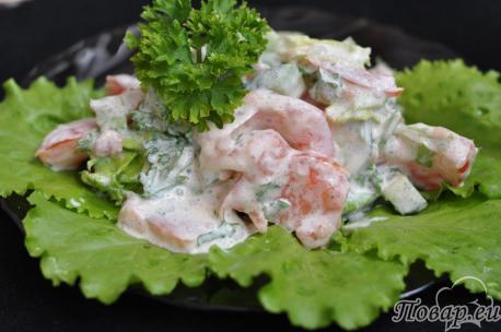 Салат овощной со сметаной