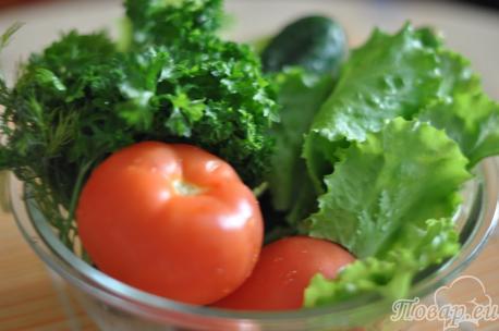продукты для салата овощного со сметаной