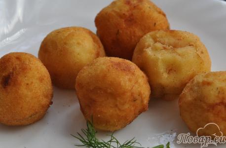 Шарики картофельные во фритюре