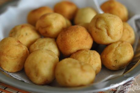 Шарики картофельные во фритюре: готовое блюдо