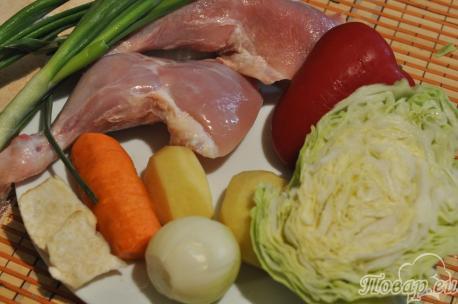 Щи с курицей в мультиварке: продукты