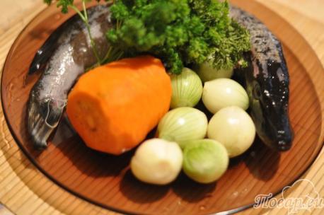 Щука с овощами: продукты