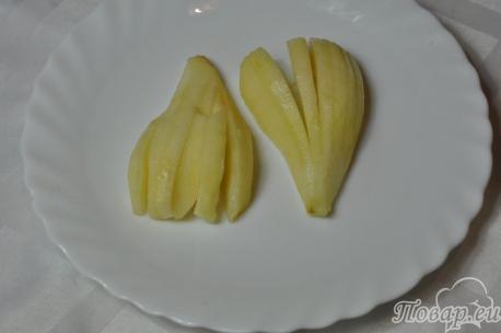 Слойки с грушами: подготовка груш