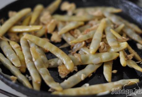 Спаржевая фасоль в соевом соусе с чесноком: соевый соус