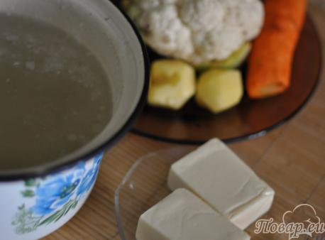 Суп-крем из цветной капусты: продукты
