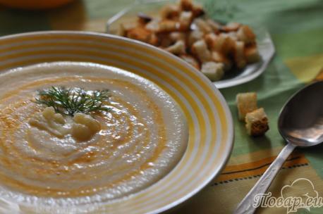 Как правильно варить суп на бульоне: суп-пюре из цветной капусты