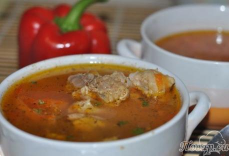 Как правильно варить суп: рисовый суп с перцем и свининой