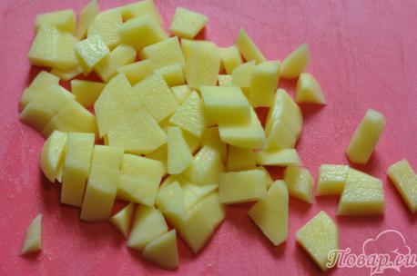 Суп гороховый постный: картофель