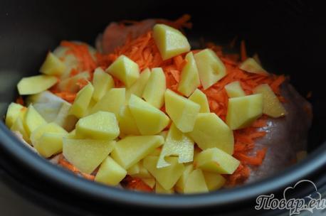 Суп с клёцками в мультиварке: курица с овощами