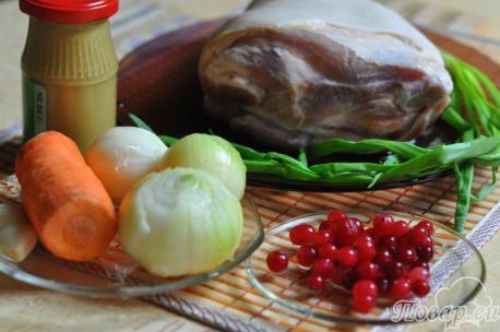 Свиная рулька в фольге: продукты