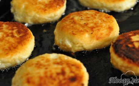 Сырники без муки: готовое блюдо