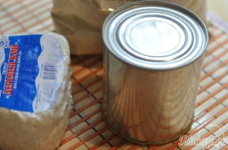 Сырники с варёной сгущёнкой: продукты