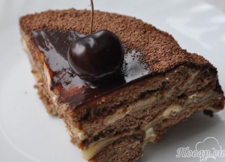 Готовый торт без выпечки из пряников