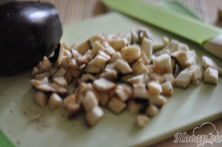 Тушёные баклажаны с кабачками