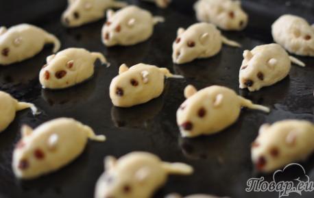 Творожное печенье для детей: на противне