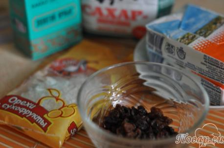 ингредиенты для приготовления творожного десерта без выпечки