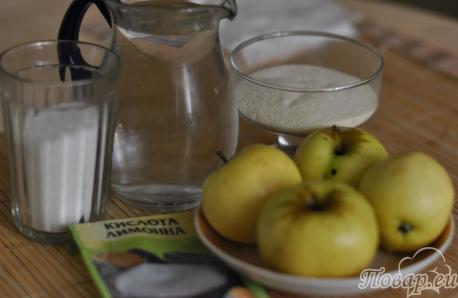 Яблочный мусс с манкой: продукты