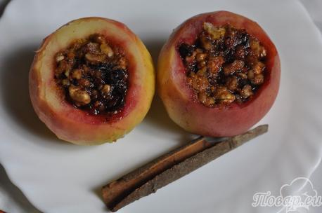 Яблоки по-венски в готовом виде