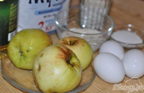 Яблоки в кляре: продукты