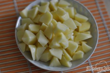 Картофель для яичного супа