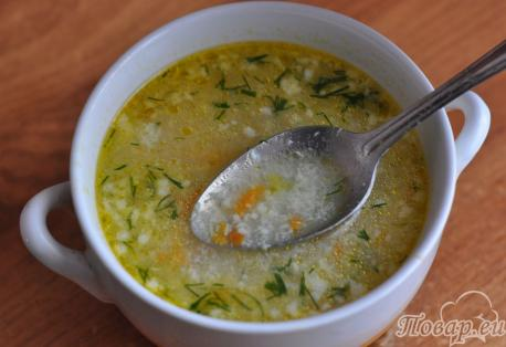 Готовый яичный суп