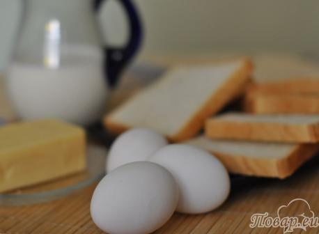 Запеканка из белого хлеба: продукты