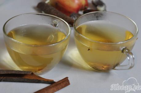 Зелёный чай с корицей: готовый чай