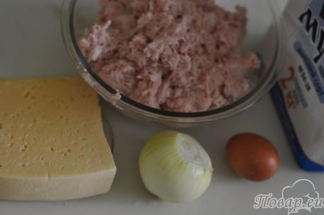 Ингредиенты для приготовления зраз на шпажках